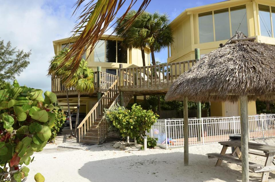 The elevated accomodations at the CocoPlum Beach & Tennis Club in Marathon, Fla.